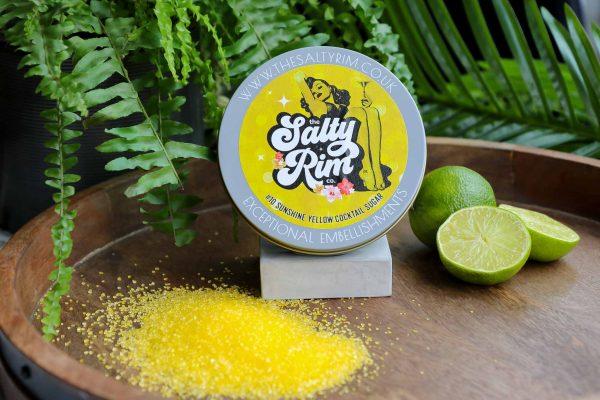 Sunshine Yellow Shimmer Cocktail Sugar